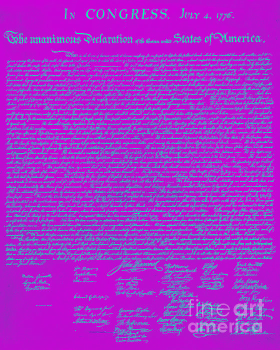 The United States Declaration Of Independence 20130215p168 Print by Wingsdomain Art and Photography