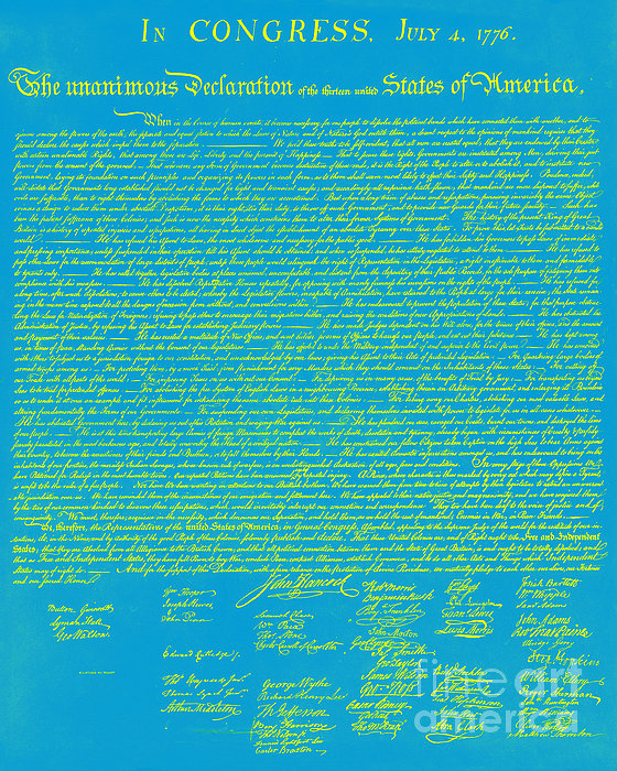 The United States Declaration Of Independence 20130215p68 Print by Wingsdomain Art and Photography