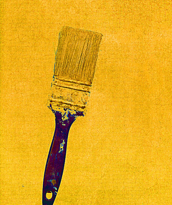 The Used Paintbrush Print by Bob RL Evans