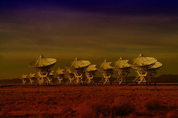 The Very Large Array In New Mexico Print by Jeff  Swan