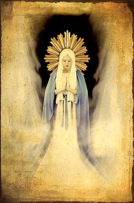 The Virgin Mary Gratia Plena Print by Cinema Photography