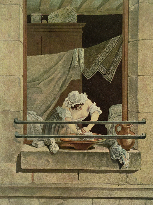 The Washerwoman, Engraved By J. Laurent Print by Augustin de Saint-Aubin