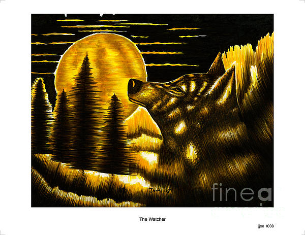 The Watcher Print by Jonas Jeque