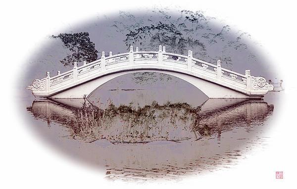 The White Bridge Print by Roger Smith