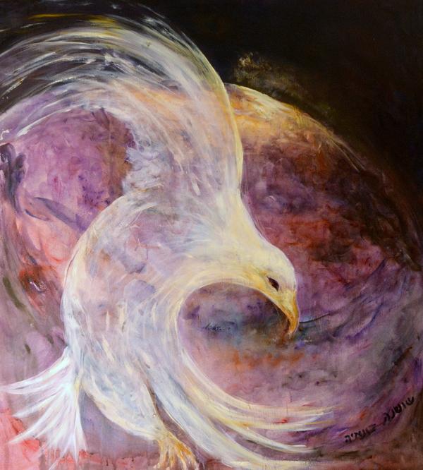 The White Eagle Print by Shoshana Donaya