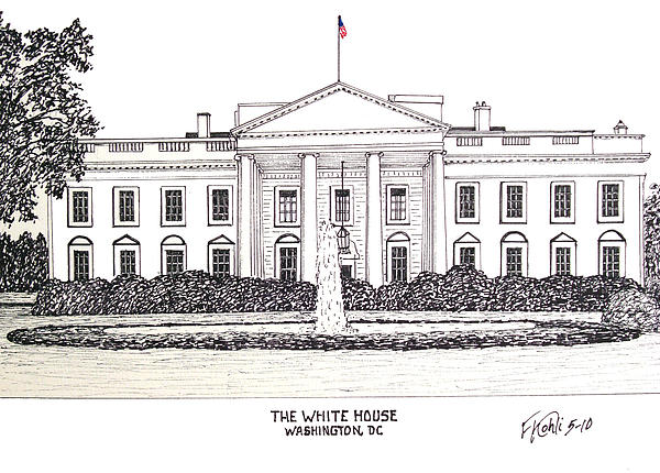 The White House Print by Frederic Kohli