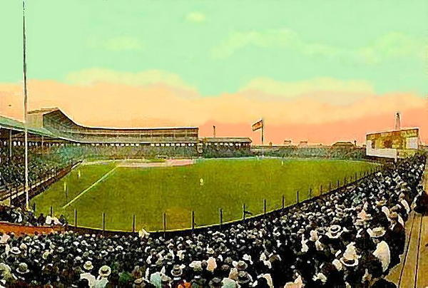 The White Sox Southside Baseball Park In Chicago Il In 1913 Print by Dwight Goss