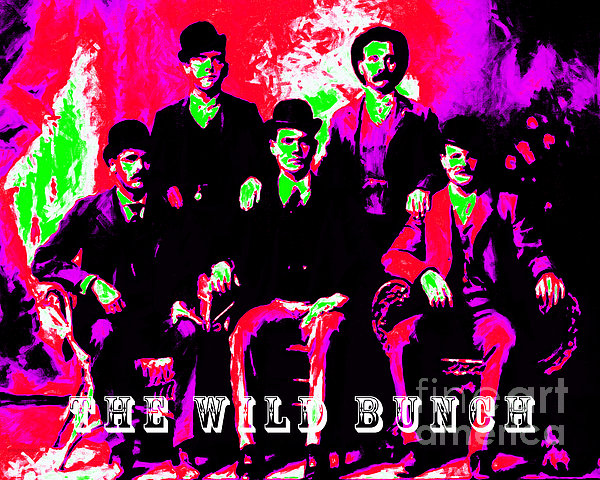 The Wild Bunch With Text 20130212 Print by Wingsdomain Art and Photography