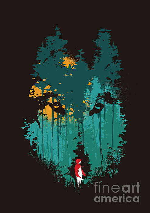 The Woods Belong To Me Print by Budi Kwan