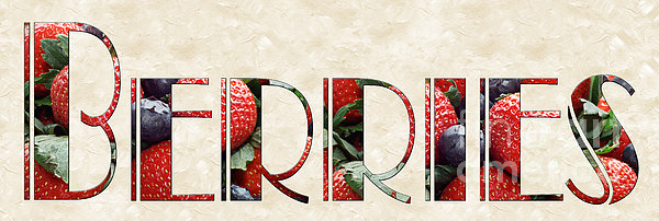 The Word Is Berries  Print by Andee Design