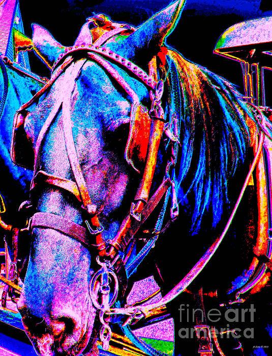 The Working Horse IIi Print by Annie Zeno