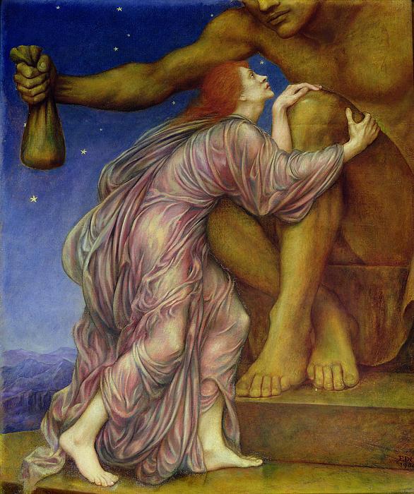 The Worship Of Mammon Print by Evelyn De Morgan