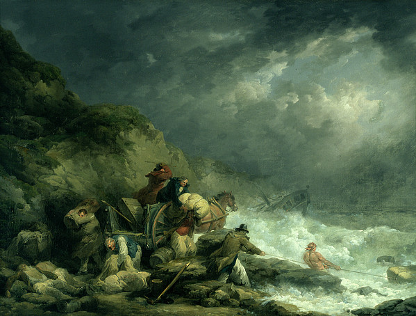 The Wreckers Print by George Morland