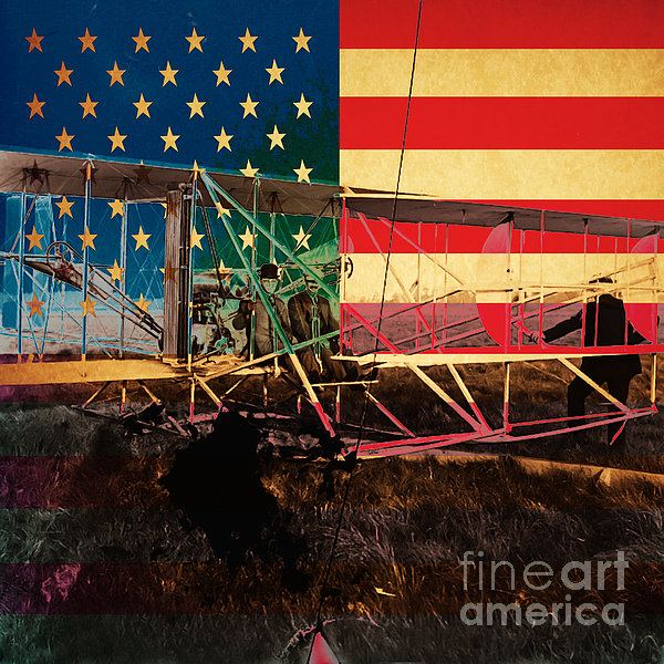 The Wright Bothers An American Original Print by Wingsdomain Art and Photography
