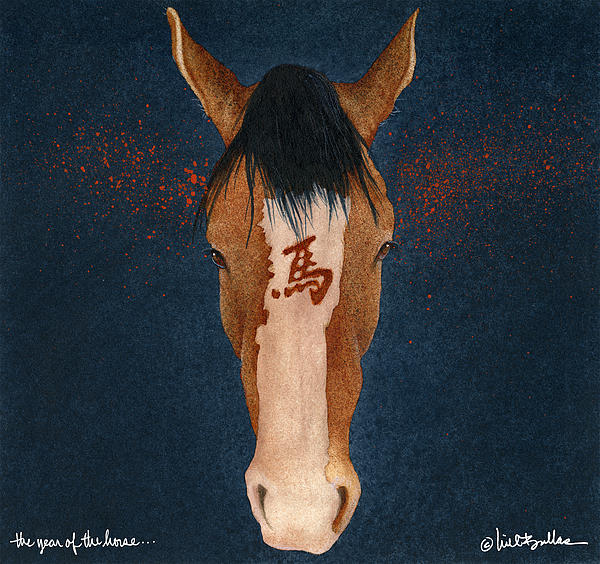 The Year Of The Horse... Print by Will Bullas
