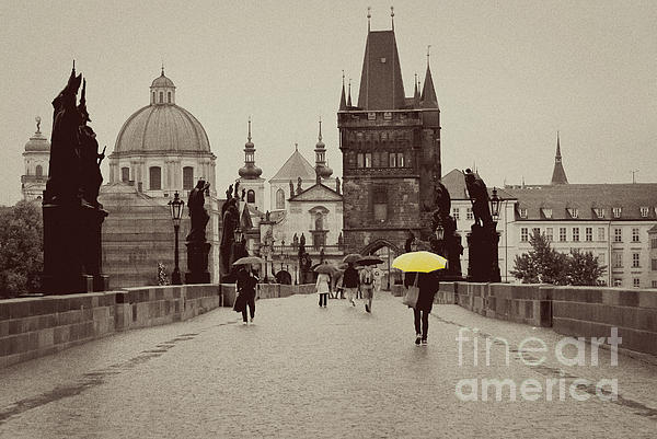 The Yellow Umbrella Photograph