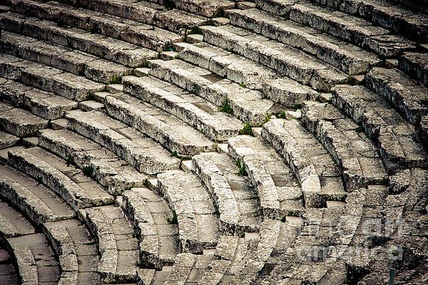 Theatre At Epidaurus Print by Gabriela Insuratelu