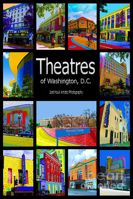 Theatres Of Washington Dc Print by Jost Houk