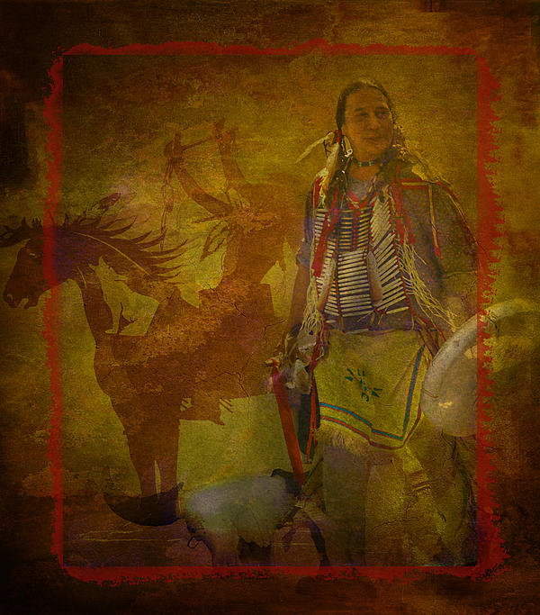 There Was Blood - Tribute To Native Americans Print by Jeff Burgess