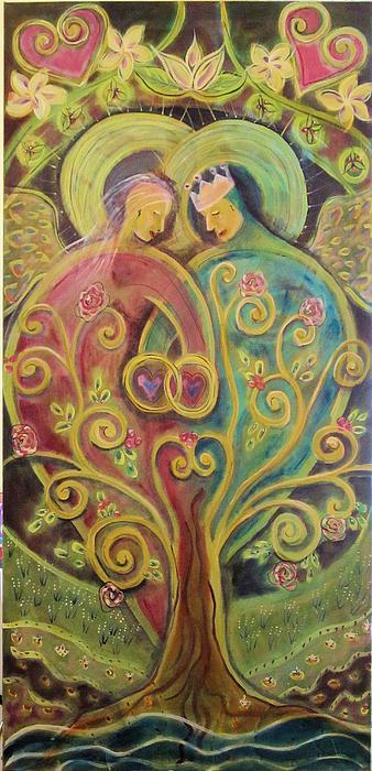 They Grow In Love Print by Deborah Carlson