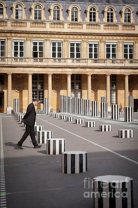 Thinking - At Palais Royal Print by Brian Jannsen