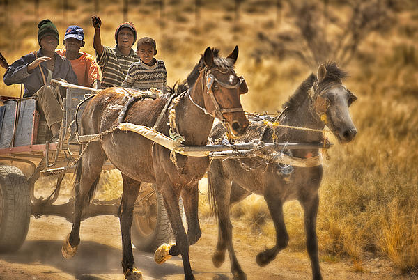 This Is Namibia No. 23 - Going To Town The Old Fashioned Way Print by Paul W Sharpe Aka Wizard of Wonders