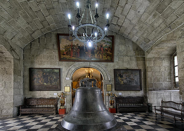 This Is The Philippines No.89 - San Agustin Church Bell Print by Paul W Sharpe Aka Wizard of Wonders