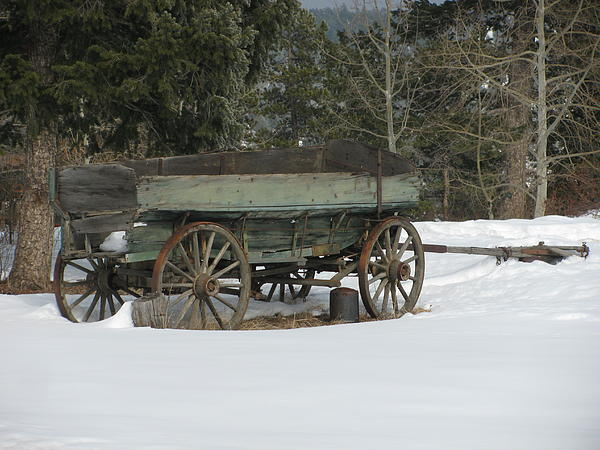 This Old Wagon Print by Steven Parker