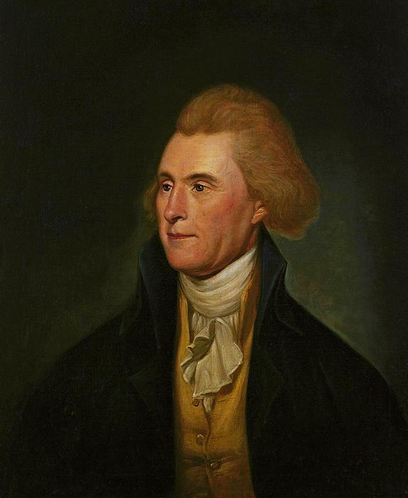 Thomas Jefferson Print by Charles Wilson Peale