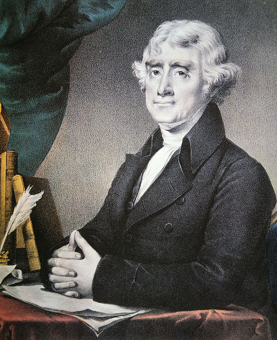 Thomas Jefferson Print by Nathaniel Currier