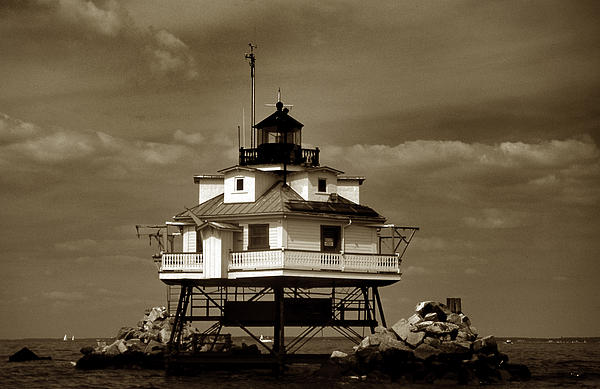 Skip Willits - Thomas Point Shoal Lighthouse Sepia