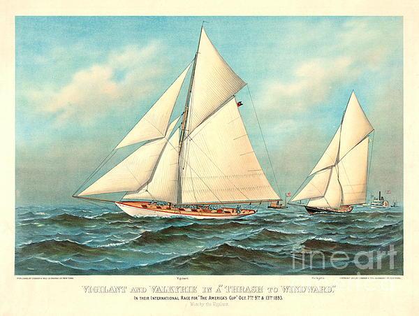Thrash To Windward 1893 Print by Padre Art