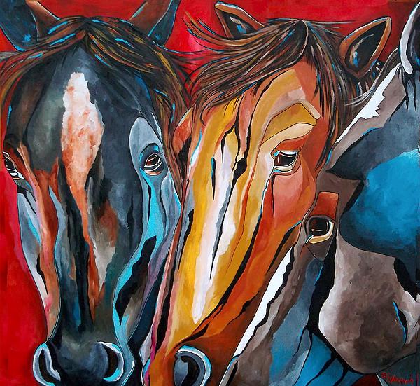 Three Amigos Print by Patti Schermerhorn
