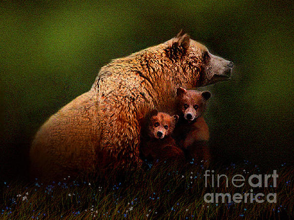 Three Bears Print by Robert Foster