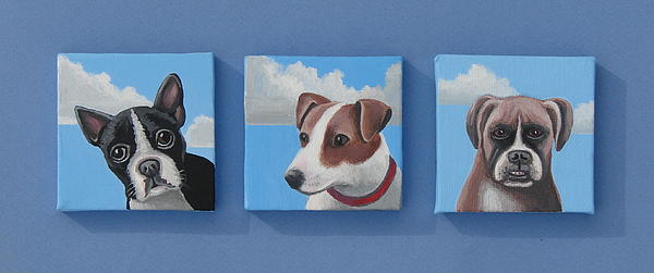 Three Pups Print by Stuart Swartz