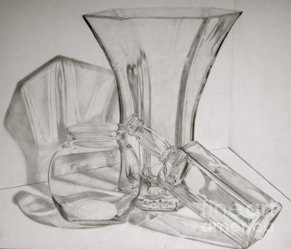 Through The Glass Print by Jen Santa