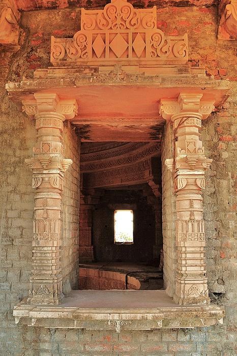 When Windows Become Art - Jain Temple - Amarkantak India Print by Kim Bemis