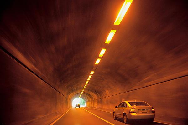 Thru The Tunnel Print by Karol  Livote