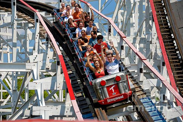 Thuderbolt Roller Coaster Kennywood Park Print by Amy Cicconi
