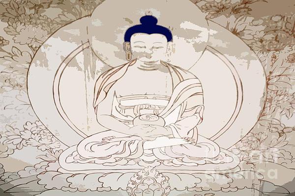 Tibet Buddha Print by Kate McKenna
