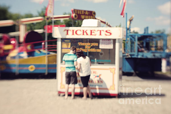 Ticket Booth Print by K Hines