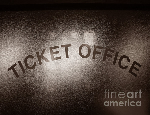 Ticket Office Window Print by Olivier Le Queinec
