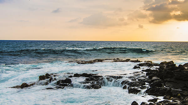 Tide Pool Sunsets In Hawaii Print by Brandon McClintock