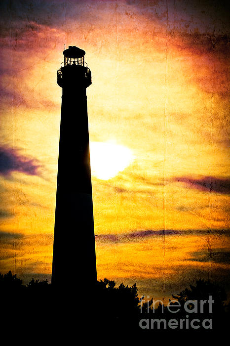 Tie Dye Sky - Lighthouse Print by Colleen Kammerer