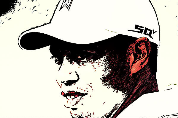 Tiger Woods Print by MotionAge Designs