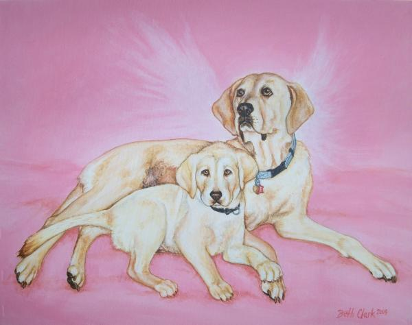 Tilly And Forrest Print by Beth Clark-McDonal