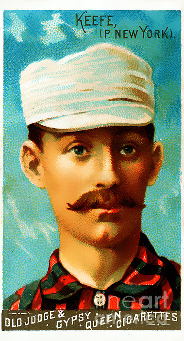 Tim Keefe New York Metropolitans Baseball Card 0128 Print by Wingsdomain Art and Photography