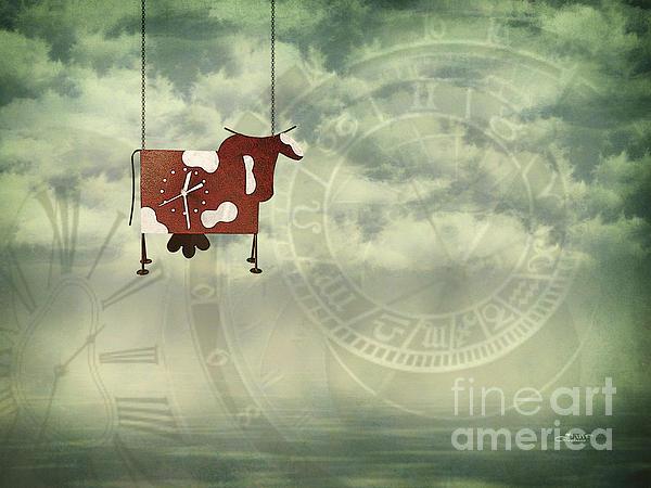 Time Flies Print by Jutta Maria Pusl