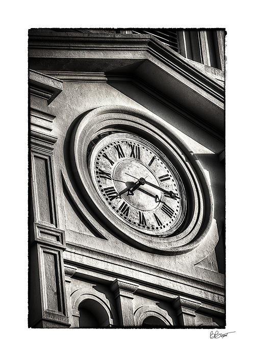 Time In Black And White Print by Brenda Bryant