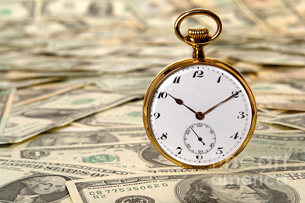 Time Is Over Money Print by Olivier Le Queinec